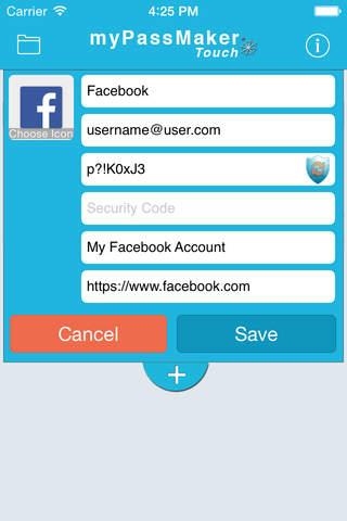 myPassMaker Touch - náhled