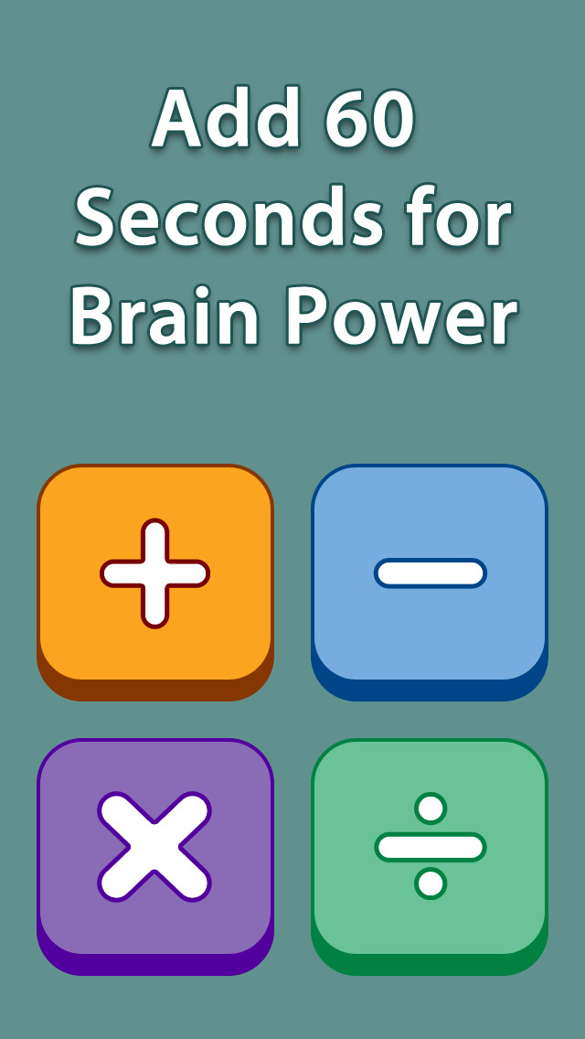 Add 60 Seconds for Brain Power - Multiplication Free screenshot 1