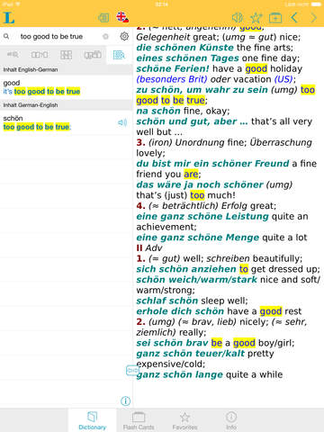 Big German English Dictionary screenshot 7