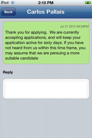 Mobile JobManager - náhled