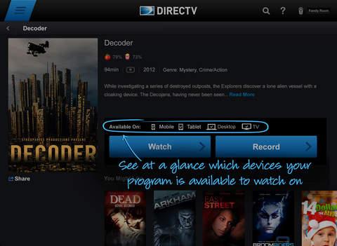 DIRECTV App for iPad screenshot 4