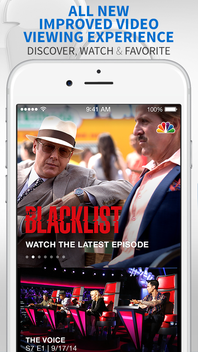The NBC App – Stream TV Shows screenshot 1
