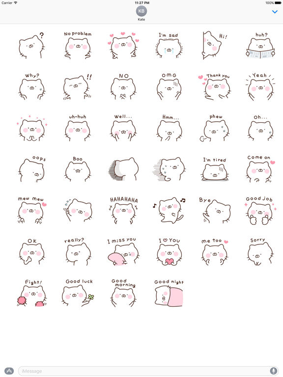Cute Enghlish Cat Stickers screenshot 4