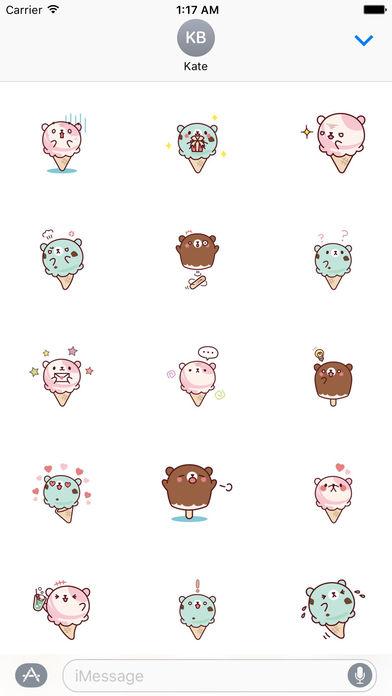 Cute Ice Cream Stickers Pack screenshot 2