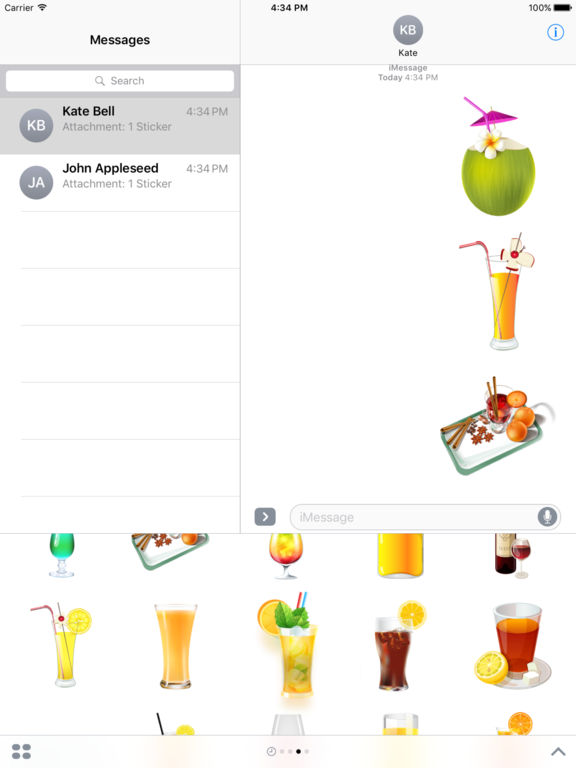 Beautiful Cocktails Stickers for iMessage screenshot 7
