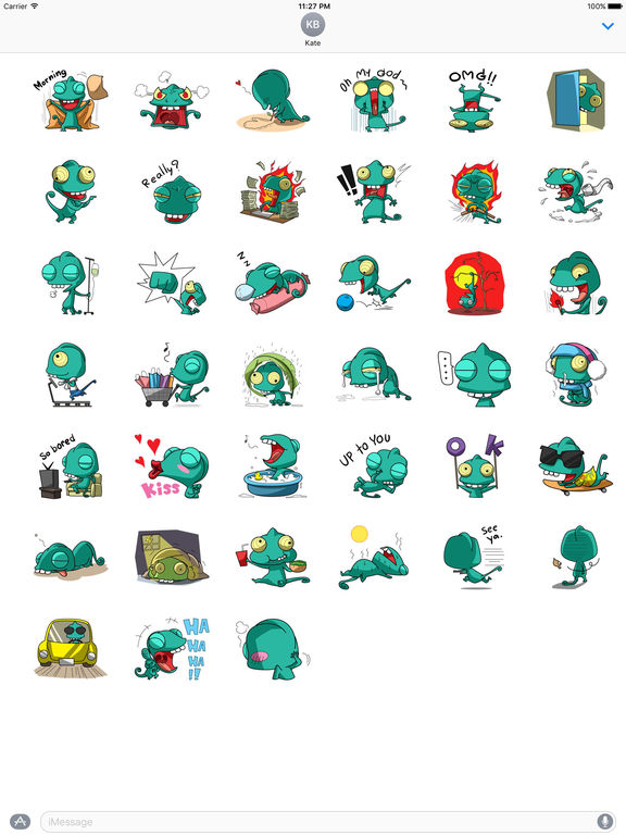 Funny Chameleon Stickers screenshot 4