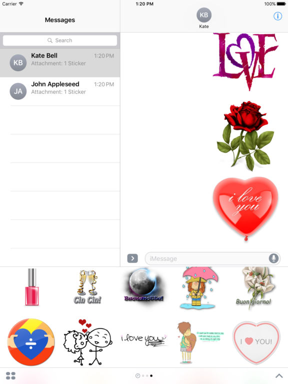 Love Sticker Pack HD Stickers for iMessage screenshot 10