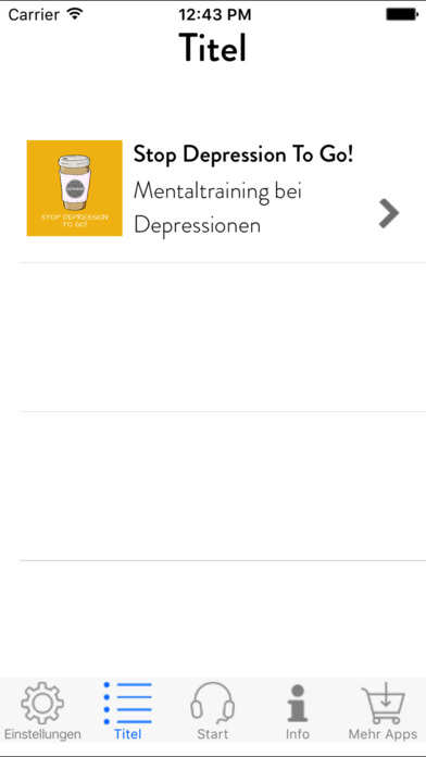 Stop Depression To Go! Mentaltraining screenshot 2