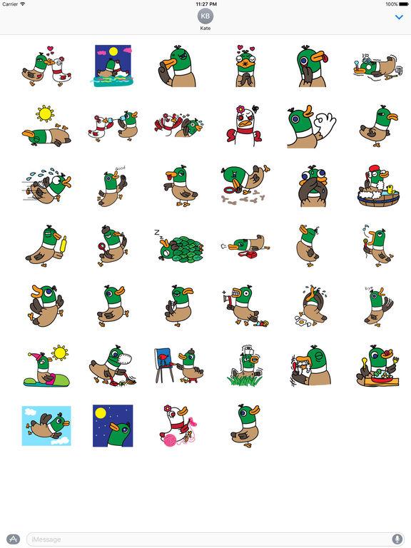 Happy Duck Sticker screenshot 4
