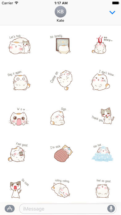 A Chubby Cat And A Thin Cat Stickers screenshot 1