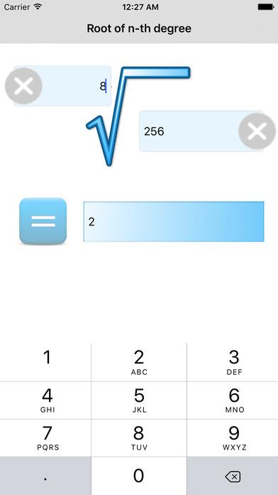 Root of any degree Calculator screenshot 2