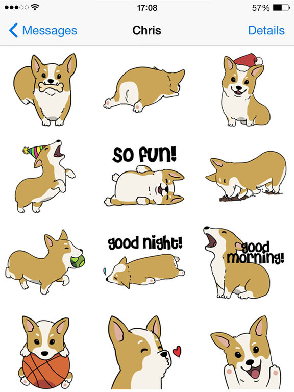 CorgiMoji - Corgi Pet Dog Emoji Stickers screenshot 4