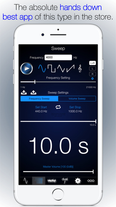 iphone screenshot generator audio signal generator including sweeps amp noise on the app 2558