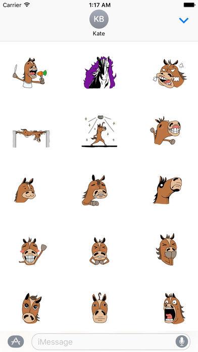 Crazy Horse Very Fun Sticker screenshot 2