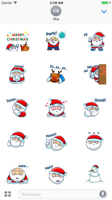 Santa Claus And Rudolph - His Reindeer Stickers screenshot 1