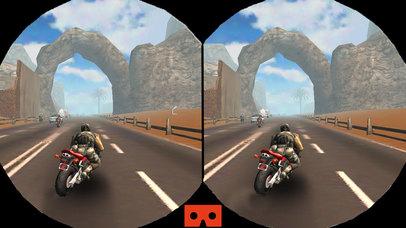 VR Moto Attack Racer : Free Virtual Reality Game screenshot 1