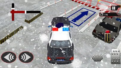 Snow City Police Parking : Real Driving Test Game screenshot 2