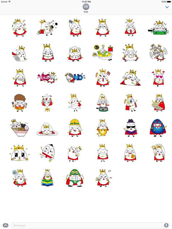Prince Of Eggs Emoji Sticker screenshot 4