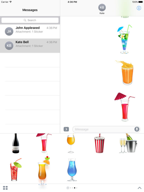 Beautiful Cocktails Stickers for iMessage screenshot 9