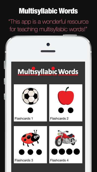 Multisyllabic Words screenshot 1