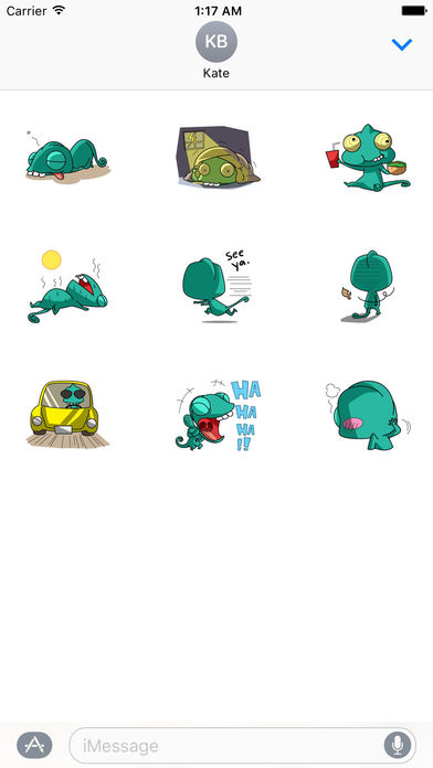 Funny Chameleon Stickers screenshot 3