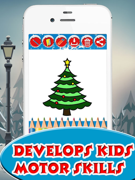 Christmas Tree Coloring book for Toddler & Pre-k screenshot 7