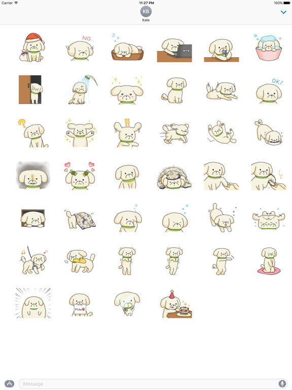 Many Stickers Of Lovely Toy Poodle Dog screenshot 4
