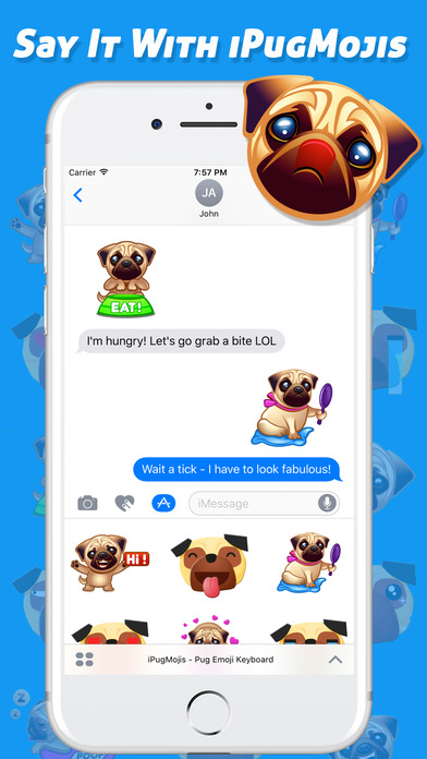 how to import iphone photos to mac app shopper ipugmojis pug emoji keyboard entertainment 8542