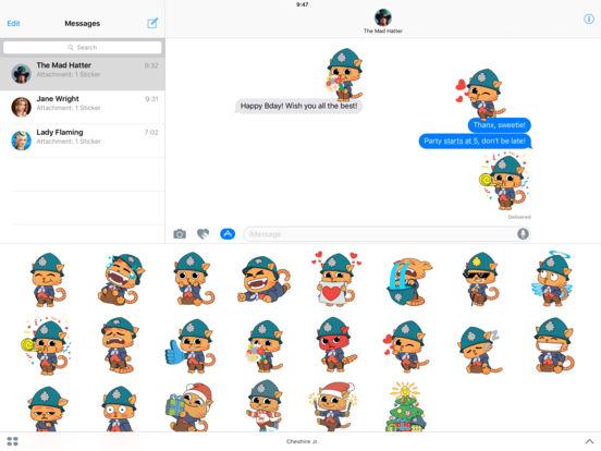 Cheshire Jr. Animated Stickers Pack screenshot 4