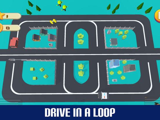 Crazy Circuit Drive Loop Car - Cartoon Crash Taxi screenshot 6