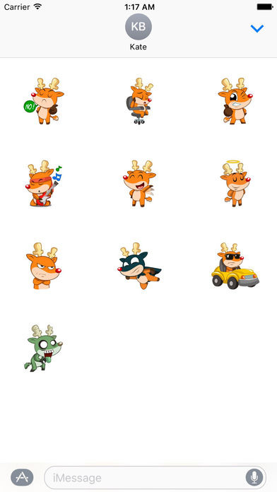 Rudolph The Cute And Sly Reindeer Stickers screenshot 3