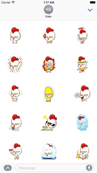 Cool Chicken Stickers screenshot 2