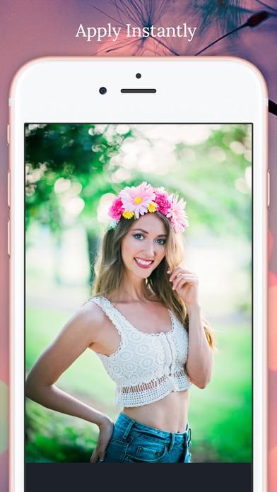 Flower Crown Filter for Snap screenshot 2