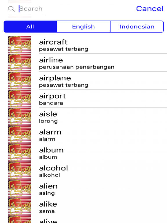 Indonesian Dictionary GoldEdition screenshot 8
