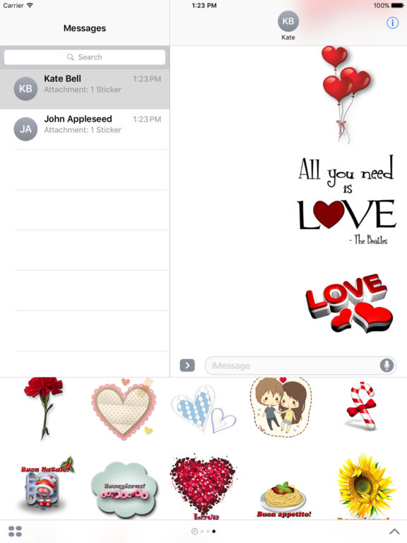 Love Sticker Pack HD Stickers for iMessage screenshot 9