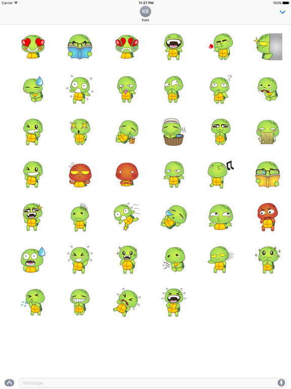 Lovely Turtle Stickers screenshot 4