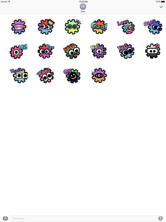 Animated Gear Word Stickers screenshot 3