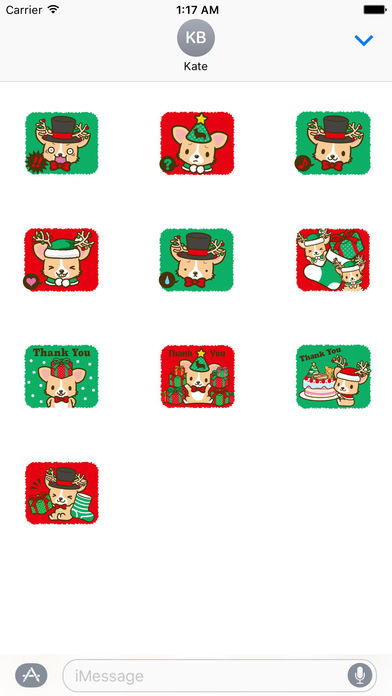 Merry Christmas Cute Corgi Dog Stickers screenshot 3