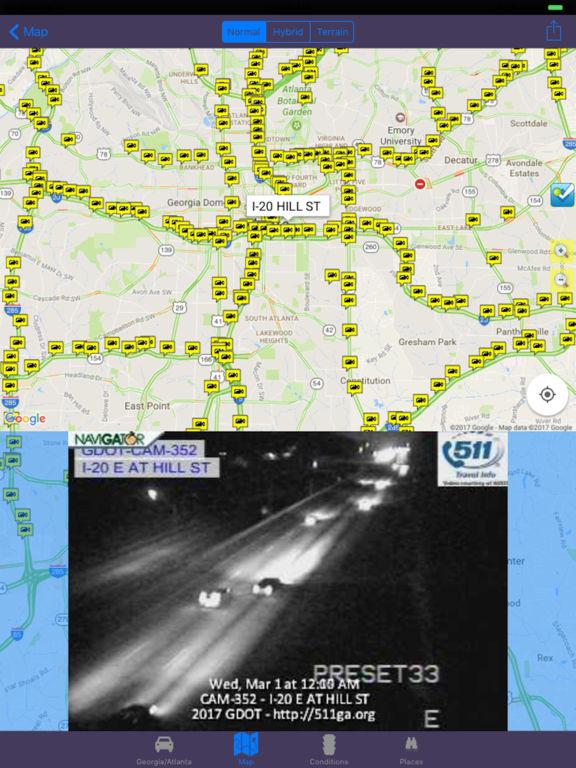 Atlanta Georgia Road Conditions and Traffic Camera AppRecs