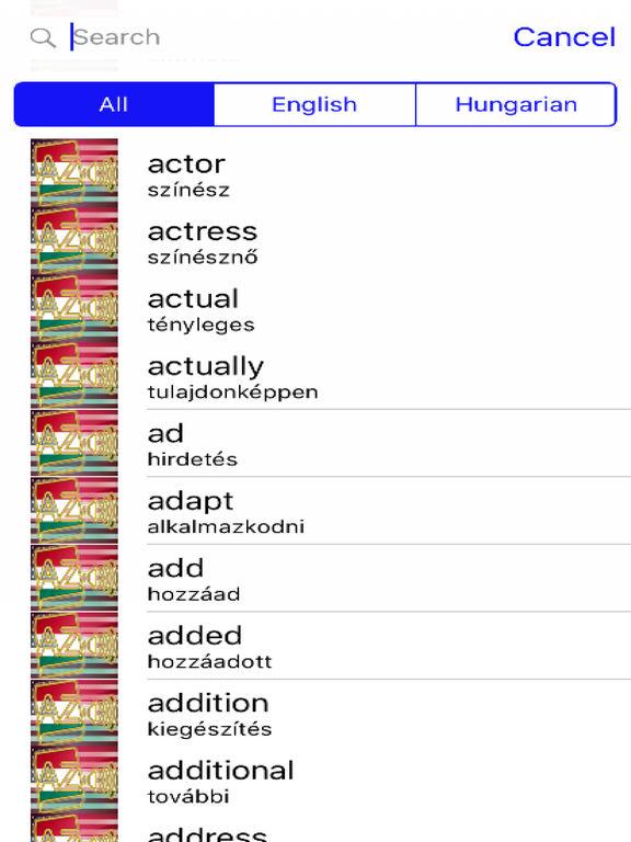 Hungarian Dictionary GoldEdition screenshot 7