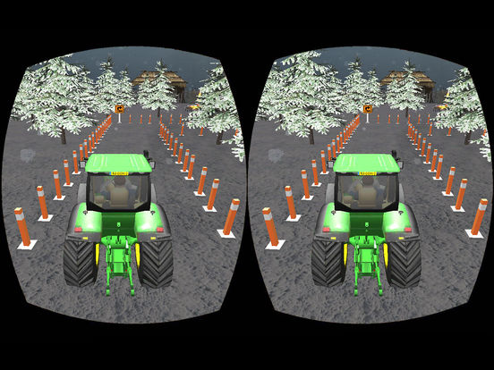 VR Farming Tractor Parking Driver - More Village screenshot 7