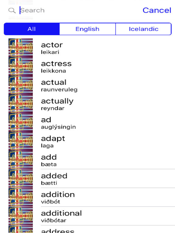 Icelandic Dictionary GoldEdition screenshot 7