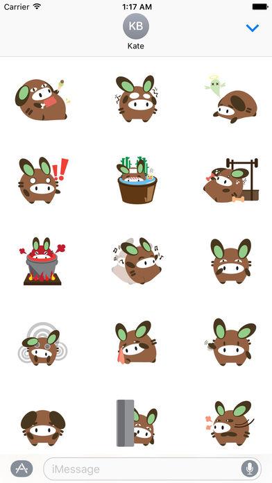 Chubby Donkey Sticker screenshot 2