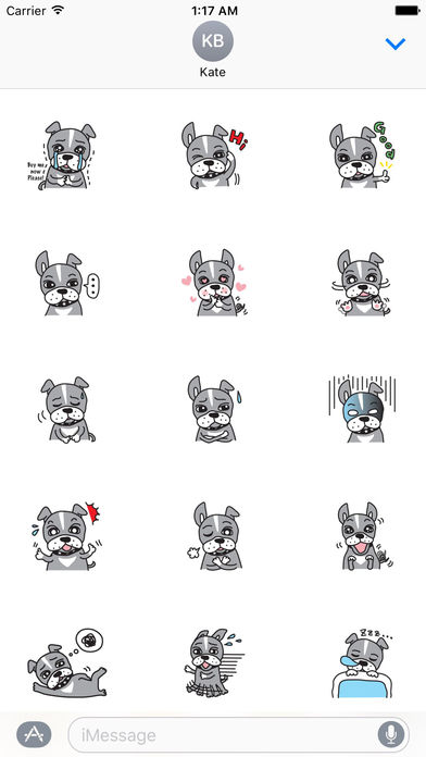 Your Cute Boston Terrier Dog Stickers screenshot 2