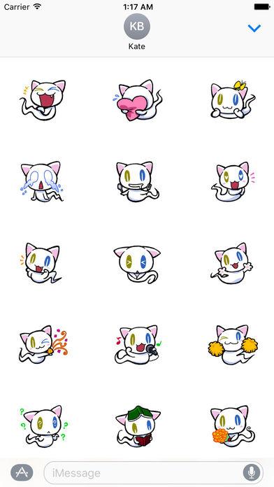 Cute Ghost Cat Stickers Pack screenshot 2