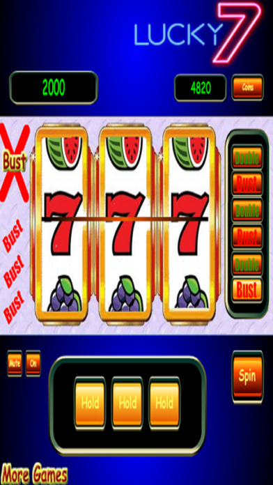 3D Double or Bust Vegas Slots - Unlimited Spins screenshot 1