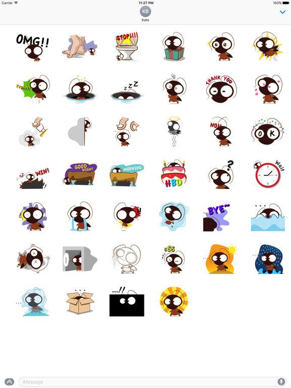 Cute Cockroach Stickers screenshot 4