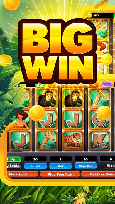 Jungle Journey Slot Machine! Gold Gambling Casino screenshot 1