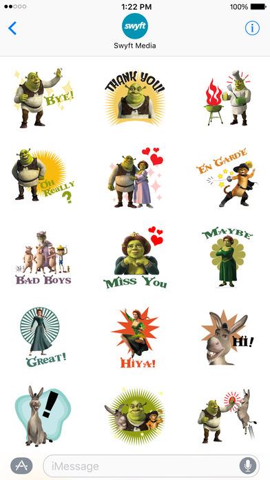 Shrek Movie Stickers screenshot 1