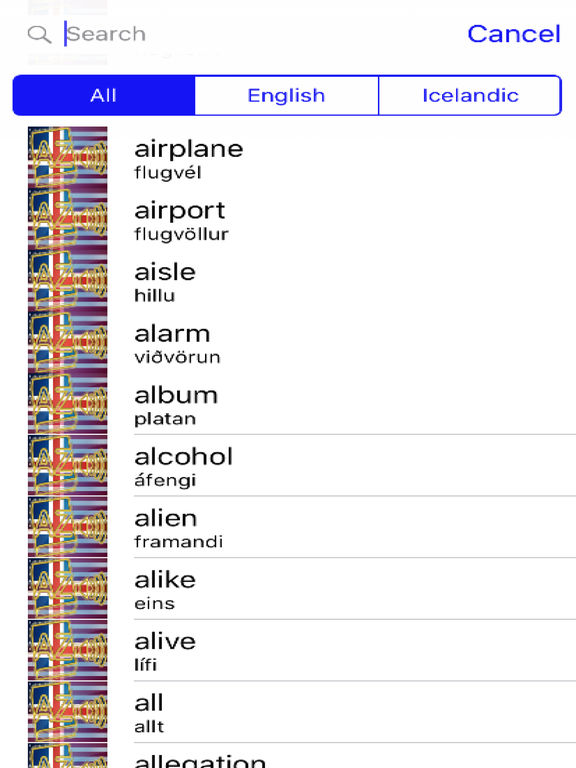 Icelandic Dictionary GoldEdition screenshot 8
